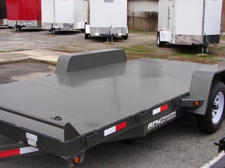 16 Open Solid Steel Deck Car Hauler Open Car Trailers For Sale
