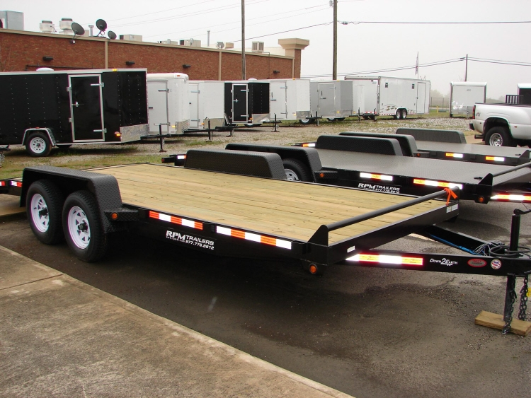 Open Aluminum Car Trailers Steel Frame Car Haulers For Sale