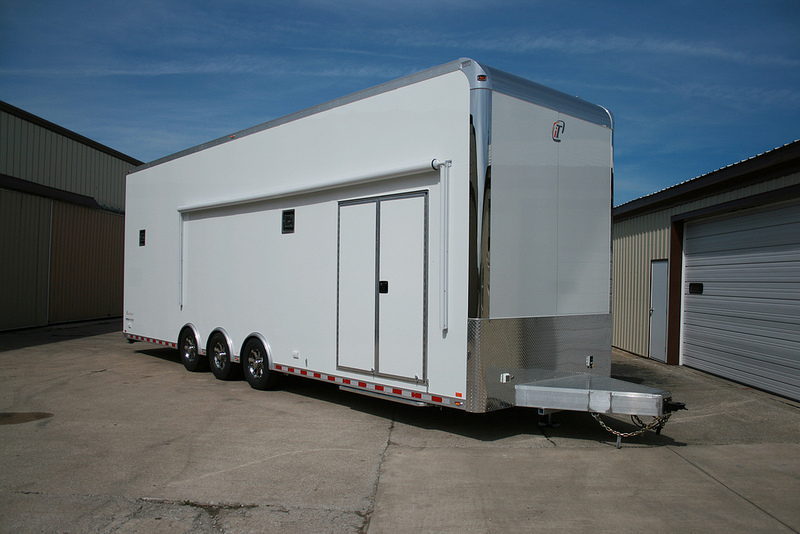 32 Intech Custom Aluminum Stacker Trailer