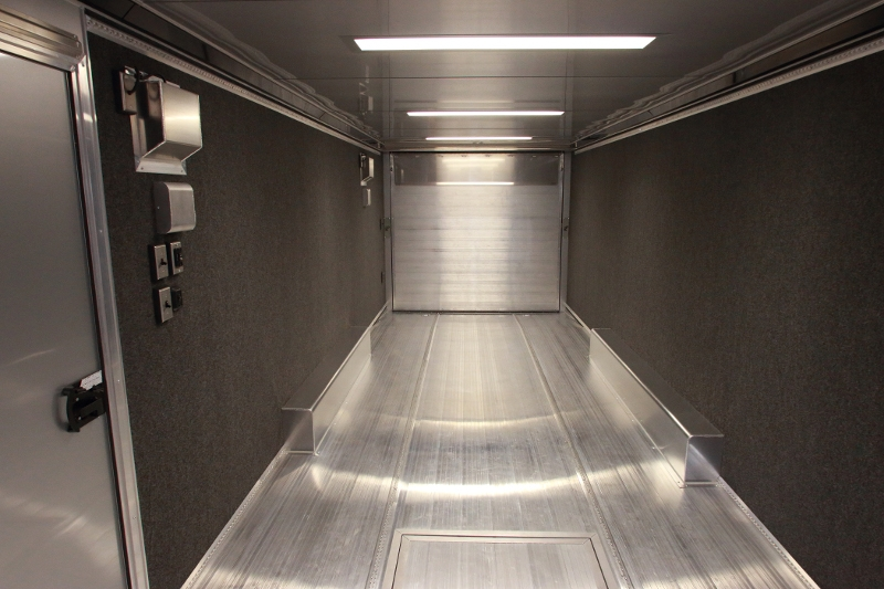 28 Custom Enclosed Aluminum Trailer Intech Aluminum Trailers For