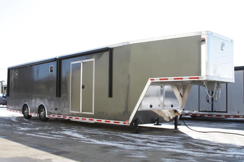 Race Car Trailer For Sale: 42' Aluminum Gooseneck Race Car Hauler