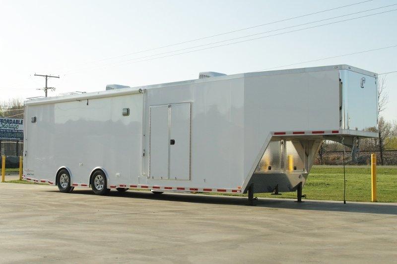 40' inTech aluminum Gooseneck Trailer | Custom Race Car