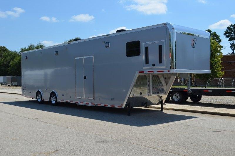 42 39 aluminum gooseneck race trailer race car haulers for for Motor trailers for sale