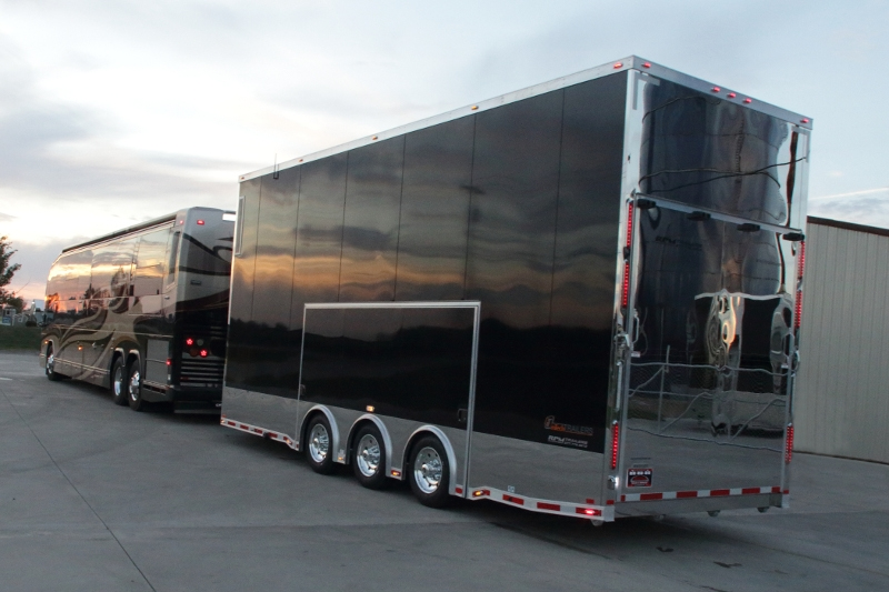 26 Custom Stacker Trailer With Bathroom Package