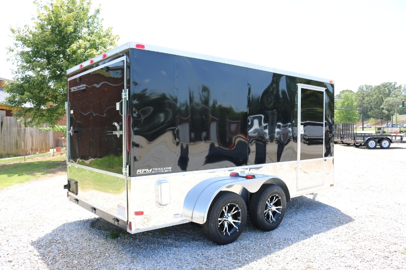 7 x 14 enclosed motorcycle trailer georgia cargo for Motor trailers for sale