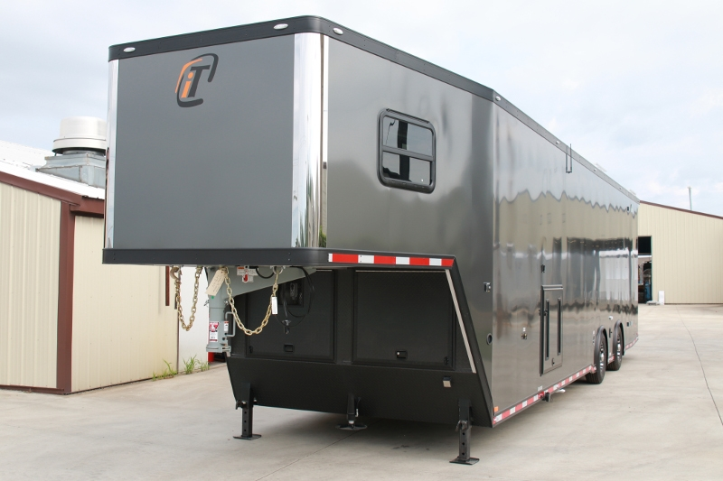 good Race Trailers With Bathrooms Part - 5: 42u0027 Custom Aluminum Race Trailer with Bathroom Package