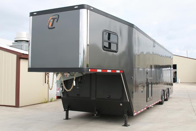 Details  42  39  Aluminum Race Trailer with Bathroom Package. 42  39  Custom Race Trailer with Bathroom Package   Custom Aluminum