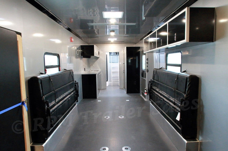 attractive Race Trailers With Bathrooms Part - 9: Details. 40u0027 Custom Aluminum Race Trailer with Bathroom Package