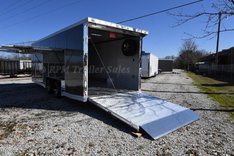 24 Enclosed Car Trailer With Escape Door Intech Aluminum